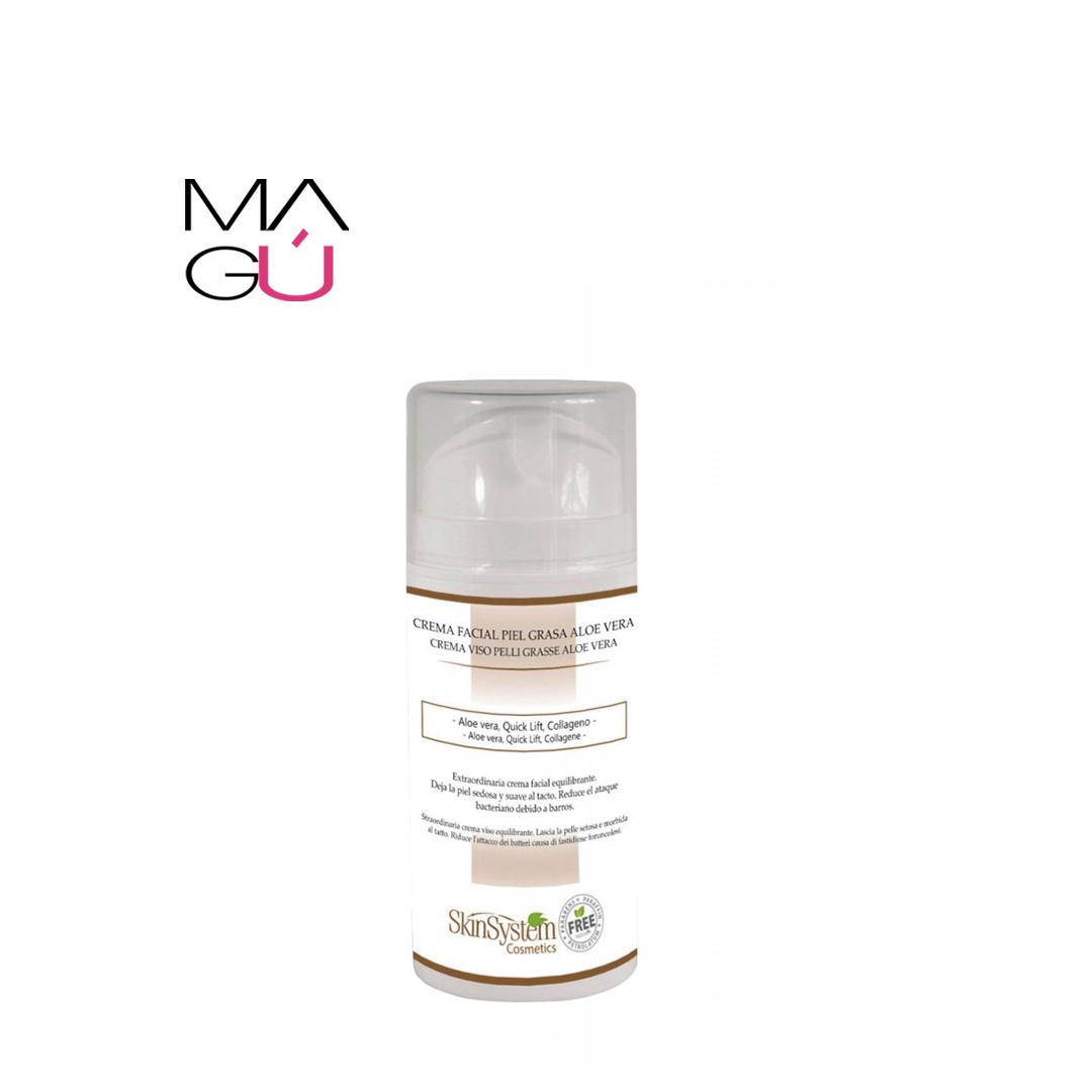Crema Facial Piel Grasa Aloe Vera