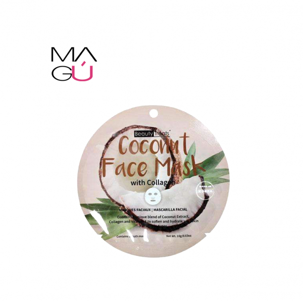 Beauty Treats Coconut Face Mask wCollagen. 18g