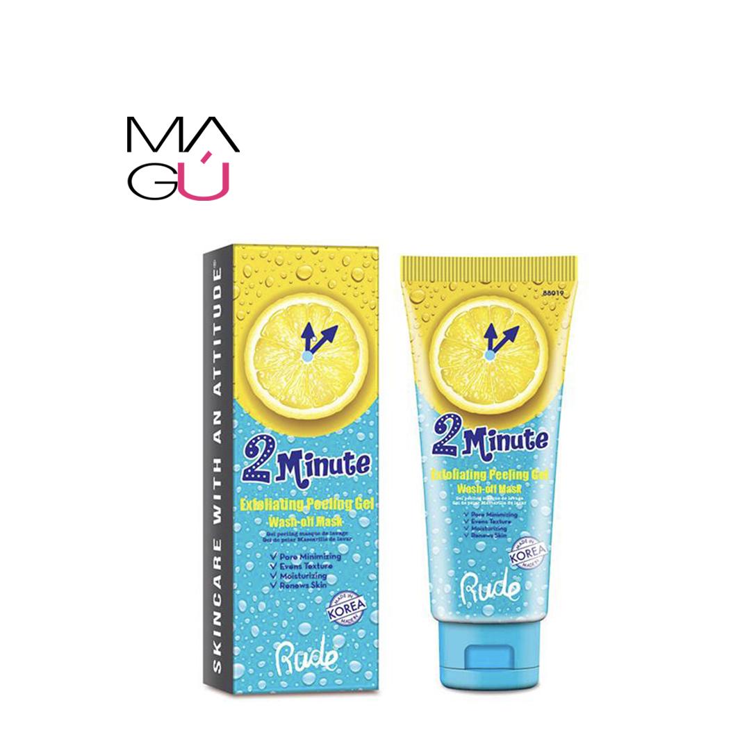 Exfoliante de rostro peeling gel Wash of Mask marca rude