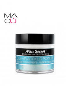 Polvo acrílico Clear Acrylic Nail Powder Mia Secret 118 gr