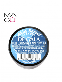 DE GALA BLUE LOVERS NAIL ART POWDER MIA SECRET