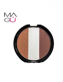 MAGU_Trio Bronzer Cocoa Malibu Glitz 26g_01 Maquillaje Ecuador