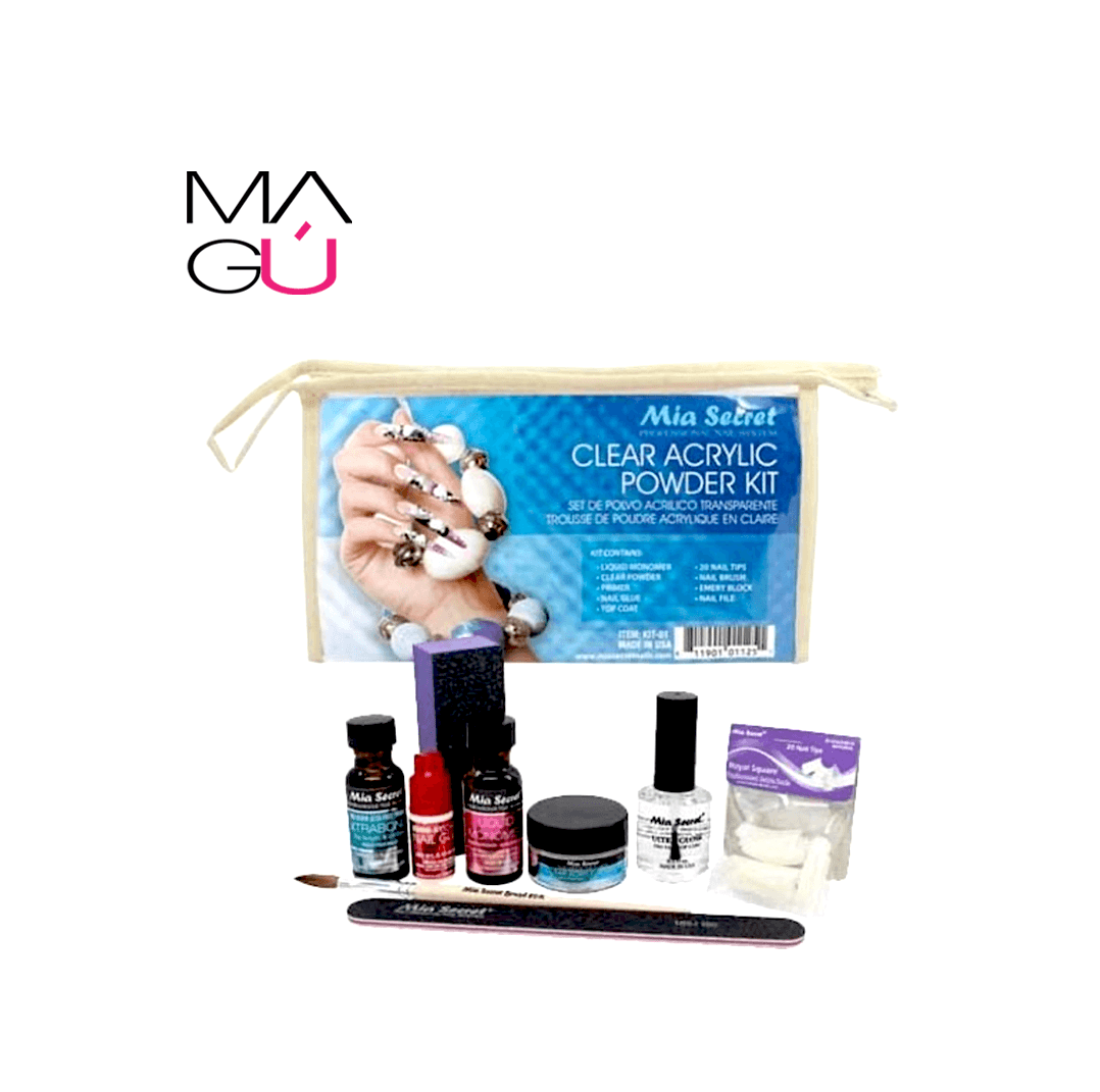 Set Polvo Acrilico Clear AcrylicPowder Kit Mia Secret 28.99
