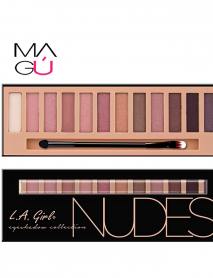 Paleta Beauty Brick Eyeshadow, Nudes, 12g - L.A. Girl