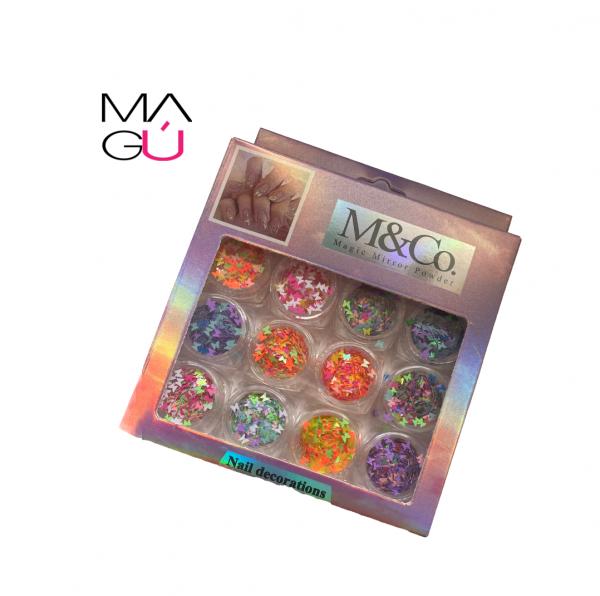 MAGU_Nail Decorations M&CO. Magic Mirror Power De Mariposa